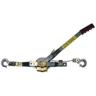 1,500 lb. 3/4-Ton Capacity 22 ft. Max Lift 15:1 Leverage Winch Puller Come Along Tool with Included Cable