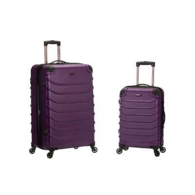 Expandable Speciale 2-Piece Hardside Spinner Luggage Set, Purple