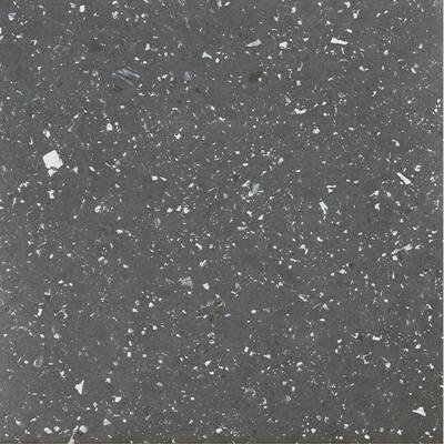 Sterling Black 12 in. x 12 in. Peel and Stick Speckled Granite Vinyl Tile (20 sq. ft./case)