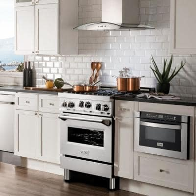 ZLINE 30 in. 4.0 cu. ft. Range with Gas Stove and Gas Oven in Stainless Steel (RG30)
