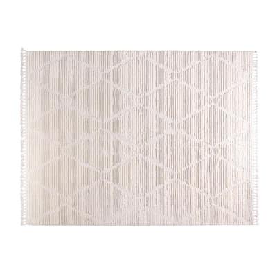 Terni Cream 6 ft. x 9 ft. Polyester Area Rug