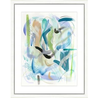 """Colorful brushstrokes I"" Framed Archival Paper Wall Art (24 in. x 28 in. in full size)"