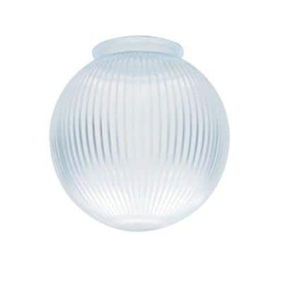 6-3/8 in. Clear Prismatic Globe with 3-1/4 in. Fitter