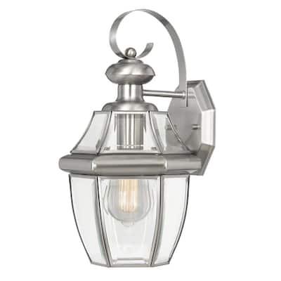 Westport 1-Light Stainless-Steel Outdoor Wall Lantern Sconce