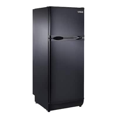8 cu. ft. Propane Top Freezer Refrigerator Dual Power in Black (Propane/110-Volt)