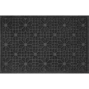 Stained Glass 23 in. x 35 in. PET Polyester Doormat Charcoal