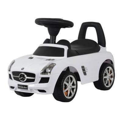 Baby Toddler Ride-On Mercedes Benz Push Car with Sounds, White