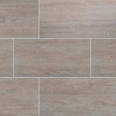 Trevi Gris 12 in. x 24 in. Matte Porcelain Floor and Wall Tile (16 sq. ft. / case)