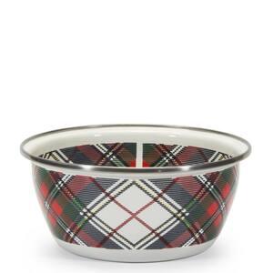 Highland Plaid 3-cup Enamelware Salad Bowl (Set of 4)