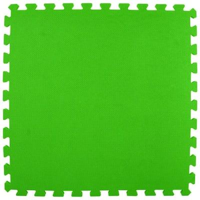 Premium Lime Green 24 in. x 24 in. x 5/8 in. Foam Interlocking Floor Mat (Case of 25)
