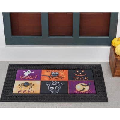 LED Halloween Night of Fright 18 in. x 30 in. Rubber Light and Sound Door Mat
