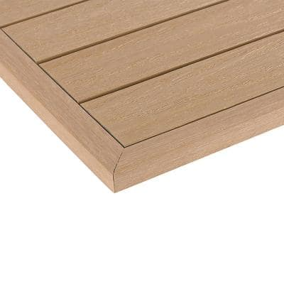 1/6 ft. x 1 ft. Quick Deck Composite Deck Tile Outside Corner Trim in Canadian Maple (2-Pieces/Box)