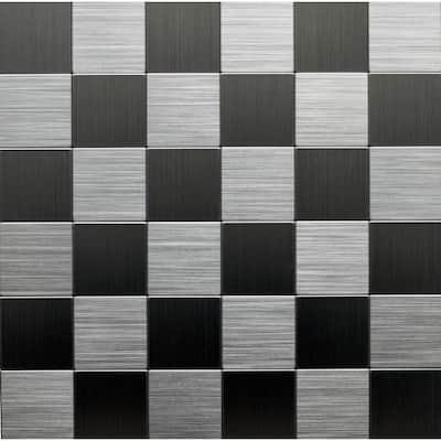 12 in. x 12 in. Metal Backsplash Tile in Stainless (6-Pack)