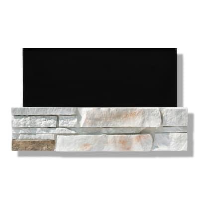 6 in. x 24 in. Stone Veneer Ledgestone Flat Panel Dover Cliff (Box of 8)