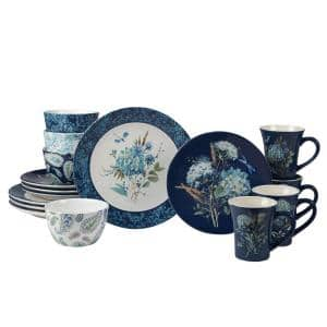 Bohemian Blue 16-Piece Earthenware Dinnerware Set (Service Set for 4)