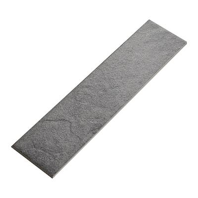 Cascade Ridge Slate Matte 3 in. x 12 in. Glazed Ceramic Bullnose Trim Tile (0.2357 sq. ft./Piece)