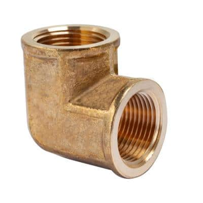 3/4 in. FIP Brass Pipe 90° Elbow Fitting (2-Pack)