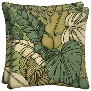 Prairie Palm Square Outdoor Throw Pillow (2-Pack)
