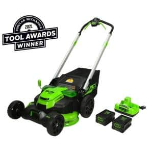 PRO 25 in. 60-Volt Cordless Battery Self Propelled Walk-Behind Lawn Mower with (2) 4.0 Ah Battery and Charger