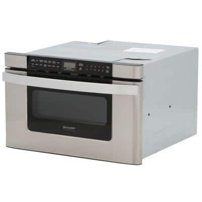 24 in. W 1.2 cu. ft. Built-in Microwave Drawer in Stainless Steel with Sensor Cooking