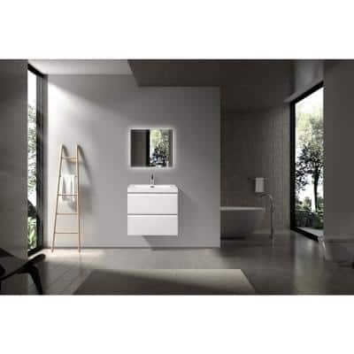 19.5 in. W x 23.46 in. D x 20.5 in. H Bathroom Vanity Side Cabinet in White with White Top
