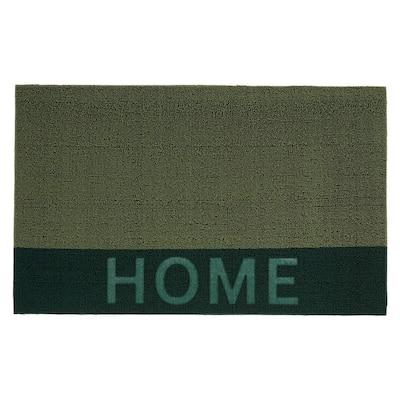Home 18 in. x 30 in. Green Door Mat