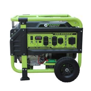 Atlas Series 13000/10000-Watt Gasoline Powered Electric Start Portable Generator w/478cc 17HP LCT Engine Lithium Battery