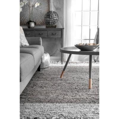 Hayworth Contemporary Gray 6 ft. x 9 ft. Area Rug