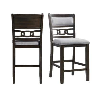 Taylor Counter Height Side Chair Set in Walnut