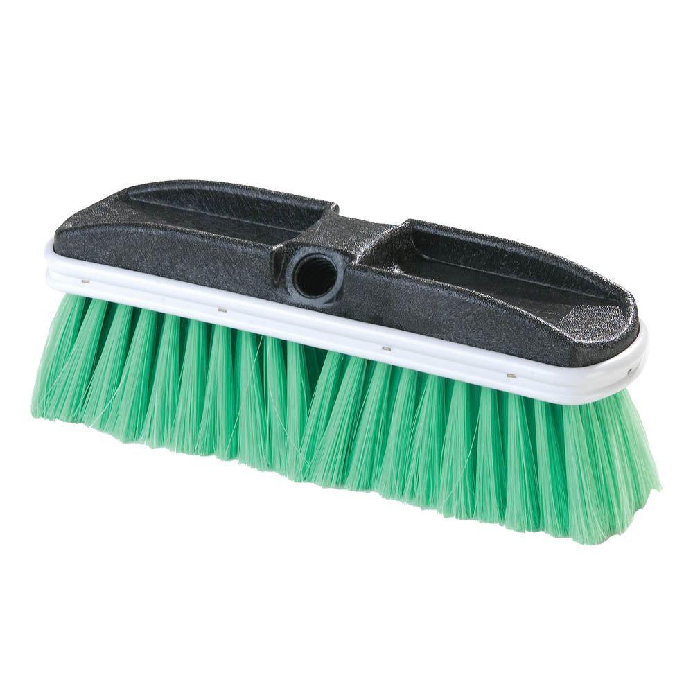10 in. Flo-Thru Flagged Green Nylex Truck Wash Brush (Case of 12)