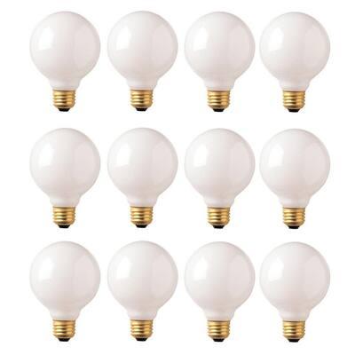 40-Watt G30 White Dimmable Warm White Light Incandescent Light Bulb (12-Pack)