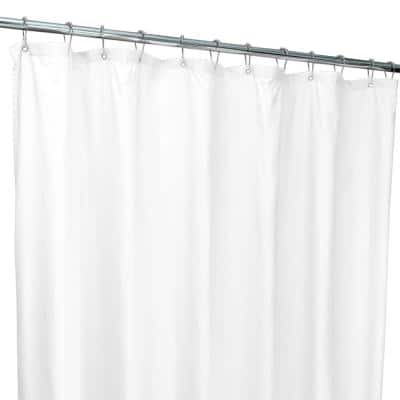 70 in. x 72 in. White Microfiber Soft Touch Diamond Design Shower Curtain Liner
