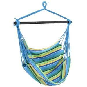 3 ft. Hanging Rope Hammock Chair Swing with Collapsible Bar
