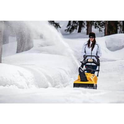 1X 21 in. 208 cc Single-Stage Electric Start Gas Snow Blower with Remote Chute Control and Headlight