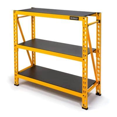 Yellow 3-Tier Steel Garage Storage Shelving Unit (50 in. W x 48 in. H x 18 in. D)