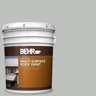 5 gal. #PFC-62 Pacific Fog Flat Multi-Surface Exterior Roof Paint