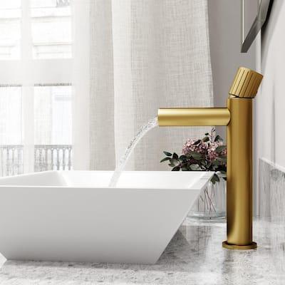 Ashford Single-Handle Vessel Sink Faucet in Matte Brushed Gold