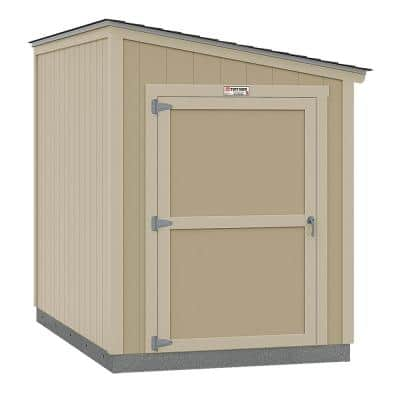 Installed The Tahoe Series Lean-To 6 ft. x 10 ft. x 8 ft. 3 in. Un-Painted Wood Storage Building Shed