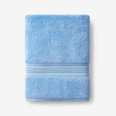 Company Cotton Blue Water Solid Turkish Cotton Bath Towel