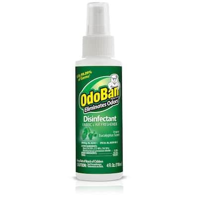 4 oz. Eucalyptus Disinfectant Spray, Odor Eliminator, Sanitizer, Fabric Freshener, Mold Control, Multi-Purpose Cleaner