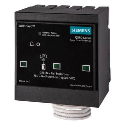 BoltShield QSPD 240V, 3-Pole, Three Phase, 3-Wire 65kA Plug-In Surge Protection Device