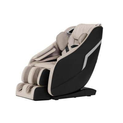 Deluxe Black and Tan Zero Gravity 3D Massage Chair with Bluetooth and Body Scan