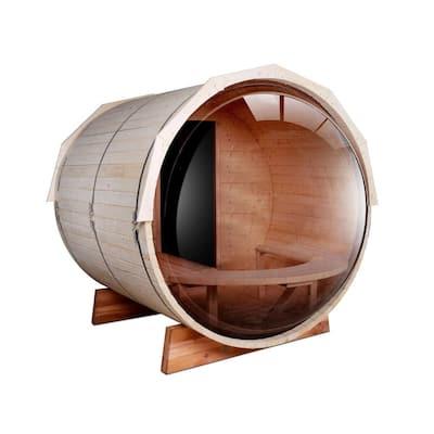 5-Person Pine Electric Heater Sauna