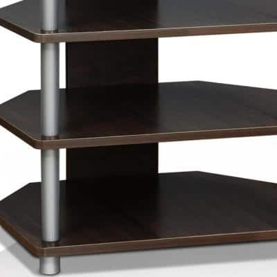 Turn-N-Tube 24 in. Espresso Particle Board TV Stand Fits TVs Up to 25 in. with Open Storage