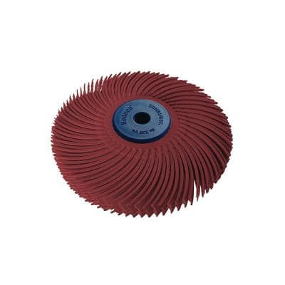 Sunburst 3 in. 6-Ply Radial Discs 1/4 in. Tool Std 220-Grit Arbor Thermoplastic Cleaning and Polishing