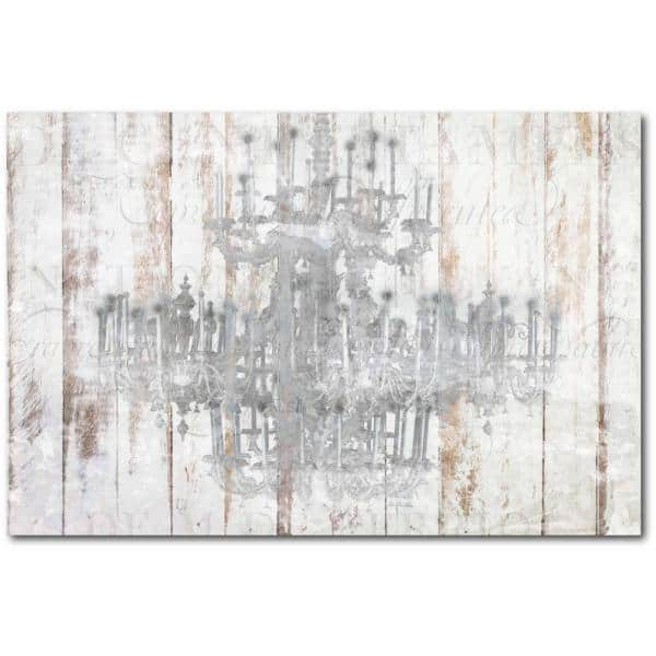 Courtside Market 24 In X 36 In Barnwood Chandelier Gallery Wrapped Canvas Printed Wall Art Web Sc489 24x36 The Home Depot