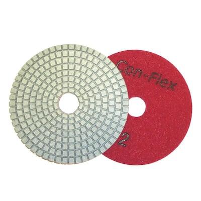 4 in. Con-Flex 5-Step Diamond Pads for Concrete Step 2
