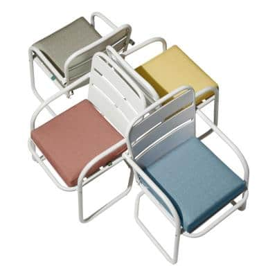 Weekend 19 in. W x 19 in. D x 3 in. Thick Square Outdoor Dining Seat Cushion in Moon Rock