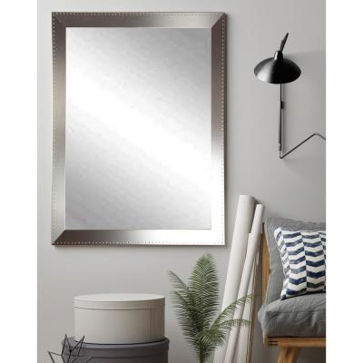 Medium Rectangle Silver Modern Mirror (48 in. H x 30 in. W)