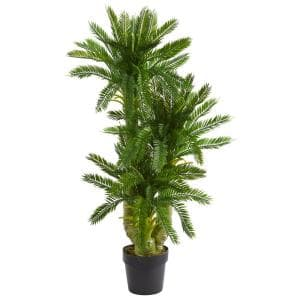 Indoor Triple Potted Cycas Artificial Plant